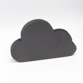 18mm wolk klein 12,5x8cm zwart