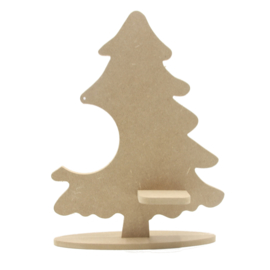 kerstboom met plankje