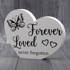gedenkbord hart forever loved