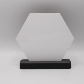 plankje met sublimatie hexagon