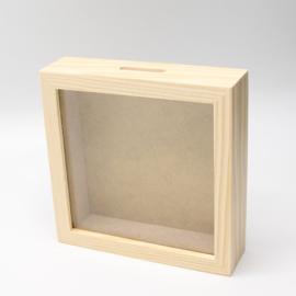 Spaarpot 13x13x3,6cm