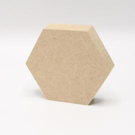 mdf 18mm hexagon 8x7cm