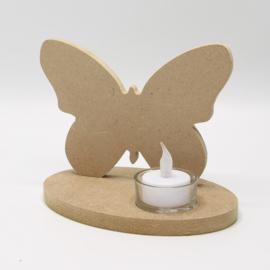 theelichthouder vlinder mdf