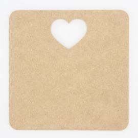 houten bord met hart 20x20cm of 20x25cm