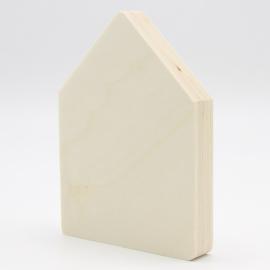 Populieren multiplex 18mm huisje 9x6,5cm