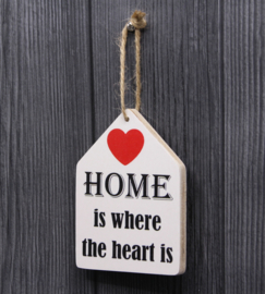 teksthanger home is where the heart is