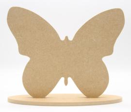 MDF vlinder incl. ovale standaard