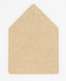 houten bord huisje zonder schoorsteen 15x21cm