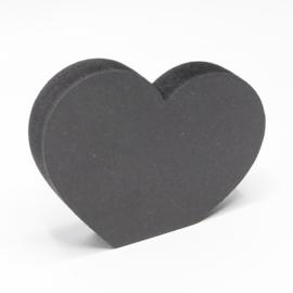 18mm hart met rechte onderzijde 10,3x8cm zwart