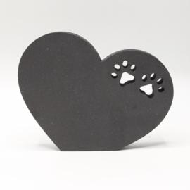 18mm hart met rechte onderzijde pootjes 16,5x13cm zwart