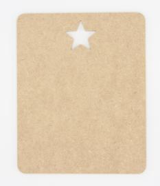 houten bord met ster 20x20cm of 20x25cm