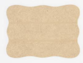 houten bord accolade 19,3x14cm