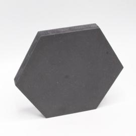 18mm hexagon 8x7cm zwart