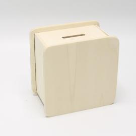 spaarpot rechthoekig 9,6x9,6x6cm