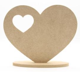 staand hart met hart fotolijstje