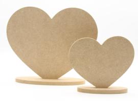 MDF hart incl. ovale standaard 9,5x12cm