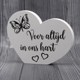 gedenkbord hart voor altijd..