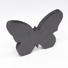 18mm vlinder 16x12cm zwart