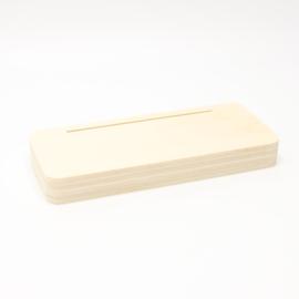 plankje 6,5x15cm voor aluminium plaatje