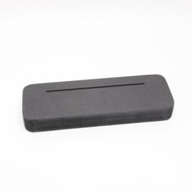 plankje smal voor foto of kaart gleuf 10cm zwart