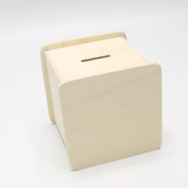 spaarpot vierkant 9,6x9,6x9,3cm