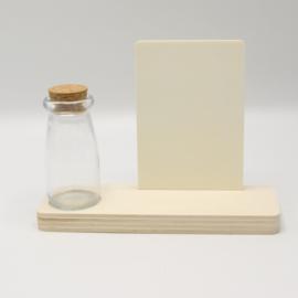 plankje rechthoek met flesje/vaasje