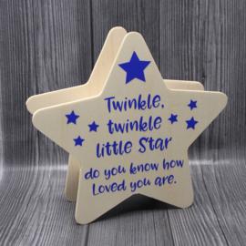 spaarpot ster 19,6x18,7x5,8cm twinkle twinkle