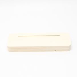 plankje kort breed voor foto of kaart gleuf 10cm