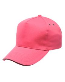 roze pet met grijze bies