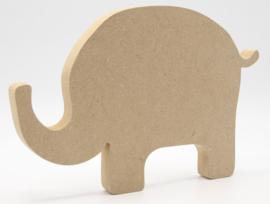 MDF olifant 24x16cm