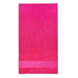 Handdoek met naam 70x140cm fuchsia