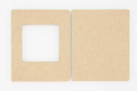 fotolijstje met vierkant