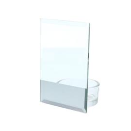 theelichthouder glazen plaatje