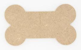 houten kapstok  in botvorm 9x15cm 12 mm