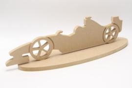 raceauto groot met voet