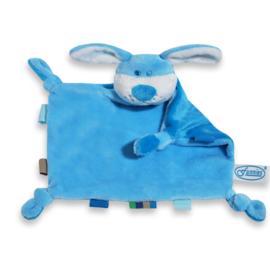 tutpopje hond blauw