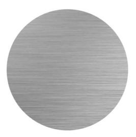 sublimatie cirkel 5cm aluminium geborsteld