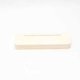 plankje smal voor foto of kaart gleuf 10cm
