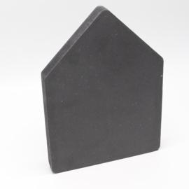 18mm huisje 9x6,5cm zwart