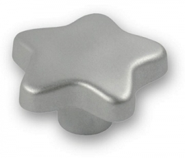 knop ster 35mm kunstof zilver