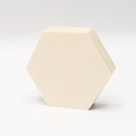 Populieren multiplex 18mm hexagon 8x7cm