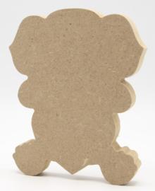 MDF olifant met hart 12,2x15cm