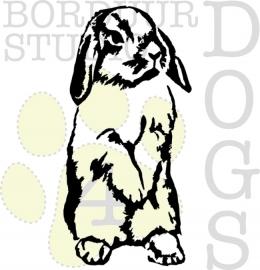 sticker konijn staand