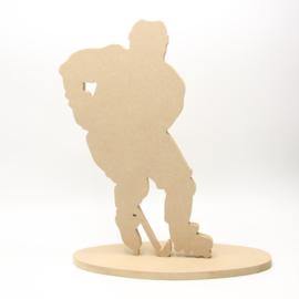 hockey man met voet