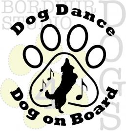 Dog dance dog on board