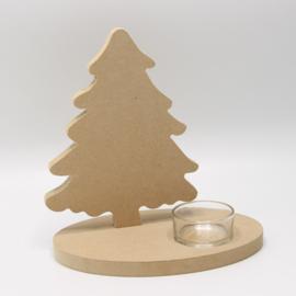 theelichthouder kerstboom mdf