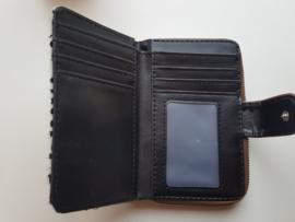 Portemonnee zwart print