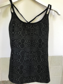 Cross-Back Sporty Top - Black Snake