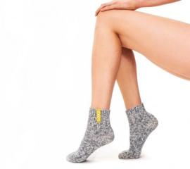 Dames wollen yoga sokken / aspen gold label (laag)
