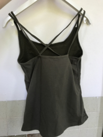 Cross-Back Sporty Top - Army Green